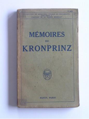 Kronprinz - Mémoires du Kronprinz
