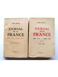 Journal de la France. Tome 1: Mars 1939 - juillet 1940 & Tome 2: Aout 1940 - avril 1942