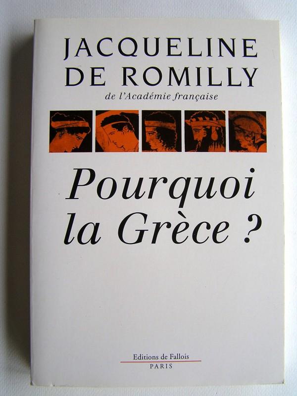pourquoi la grece jacqueline de romilly pdf