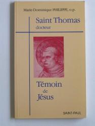 Saint Thomas, docteur. Témoin de Jésus