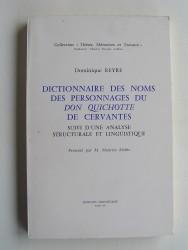 Dictionnaire des noms des personnages du Don Quichotte de Cervantes