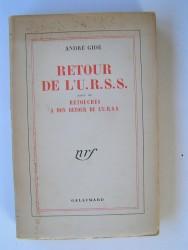 André Gide - Retour de l'U.R.S.S suivi de Retouches à mon retour de l'U.R.S.S.