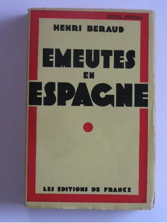 Henri Béraud - Emeutes en Espagne