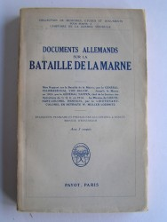 Collectif - Documents allemands sur la bataillede la Marne.