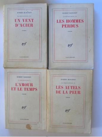 Robert Margerit - La révolution. Complet du tome 1 à 4.