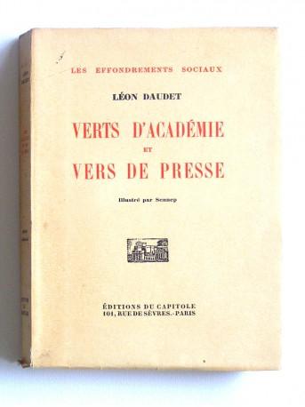 Léon Daudet - Verts d'académie et vers de presse