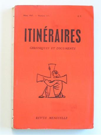 Collectif - Divini redemptoris: 30e anniversaire. Itinéraires n°111. Mars 1967