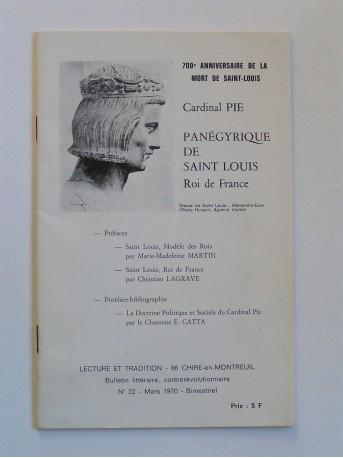 Cardinal Pie - Panégyrique de Saint-Louis. Roi de France