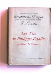 Les fils de Philippe-Egalité pendant la Terreur