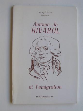 Henry Coston - Antoine de Rivarol et l'émigration