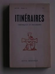 Itinéraires n°112. Chroniques et documents
