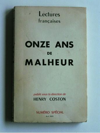 Henry Coston - Onze ans de malheur