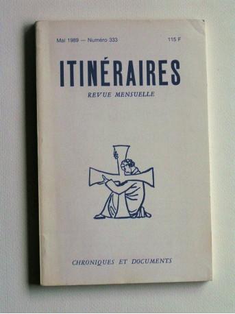 Collectif - Itinéraires. Chroniques et documents
