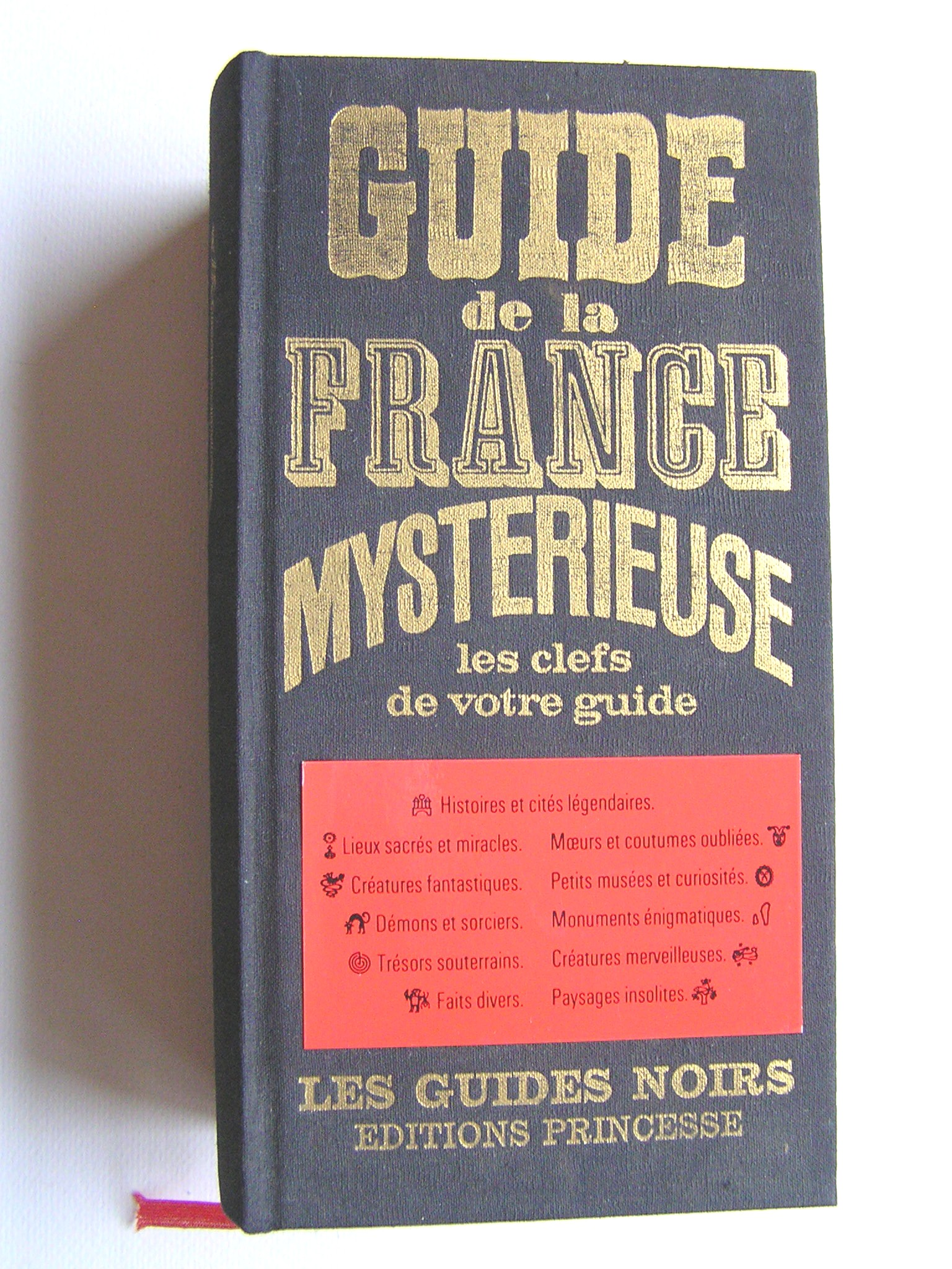 Guide de la france mysterieuse guides noirs tchou 1964 | ebay.