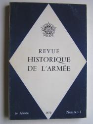 Collectif - Revue historique de l'Armée. Numéro 1 - 1970