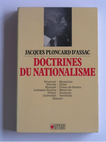 Jacques Ploncard d'Assac - Doctrines du nationalisme